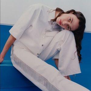 NEW NWT Zara ZW Rare Premium 90s Fringe Jeans 6 8